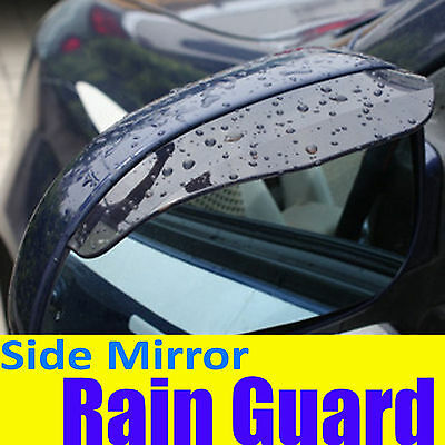Tint BLACK Side Mirror Rain Snow Guard Visor Chevy008