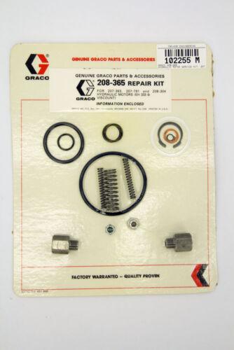 Seal 208-304 Graco 208-365 Hydraulic Motor Service Kit 207-393 207-791