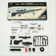 "1//6 Silver White SVD Dragunov Sniping Rifle Gun Weapon Model F 12/"" Action Figure"