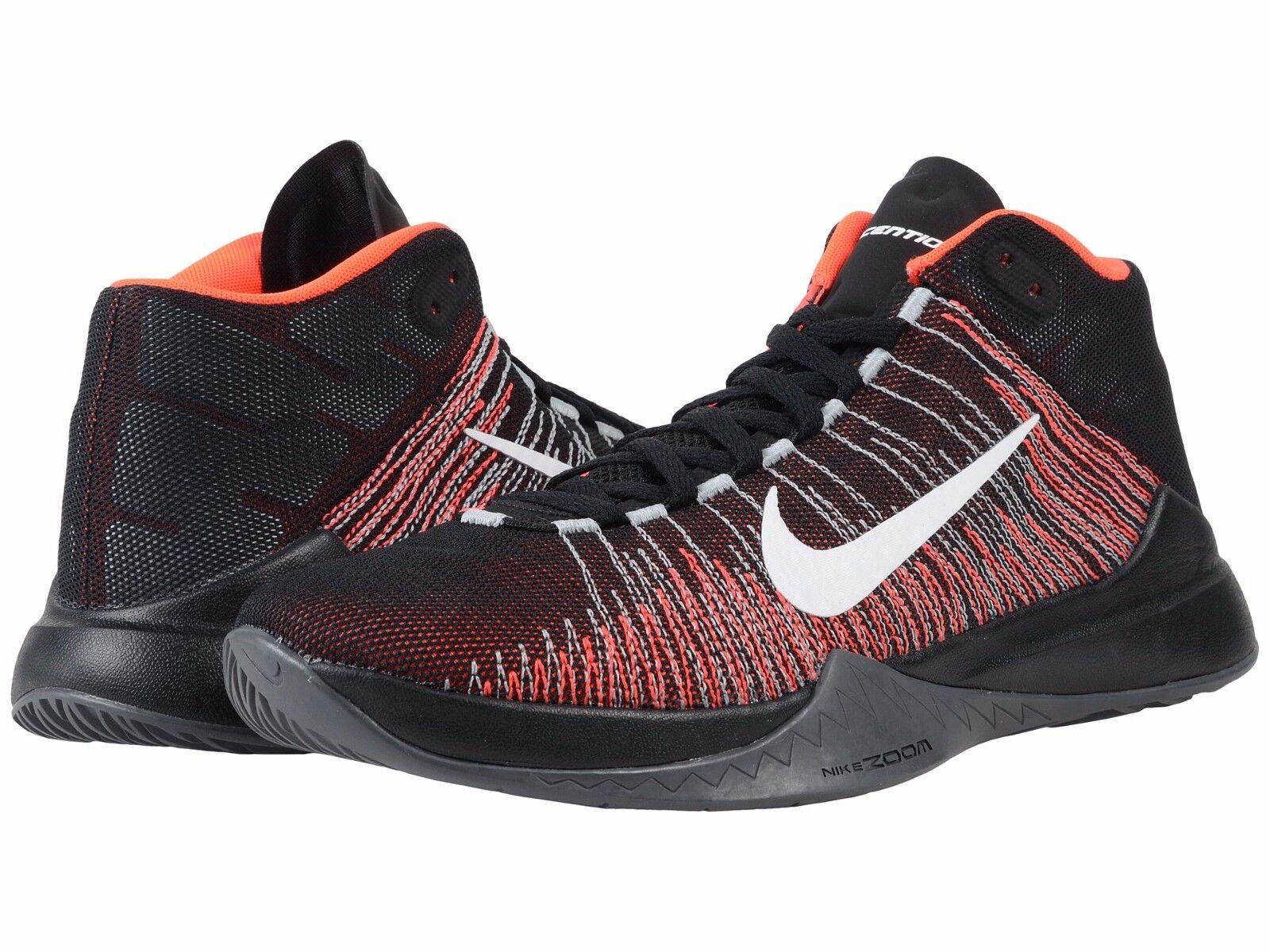 reputable site 8217c bbff2 ... Nike Mens Basketball Sneakers Zoom Ascention Black White Crimson Black  White Crimson Ascention SZ 12 719b46 ...