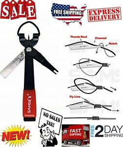 SAMSFX Fishing Quick Knot Tool 4 in 1 Fly Line Clippers with Breakaway Lanyard