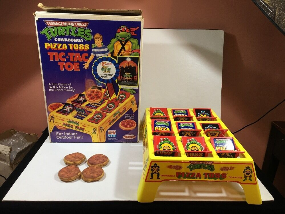 1991 Teenage Mutant Ninja Turtle Remco TMNT Tic Tac Toe Game Pizza Toss