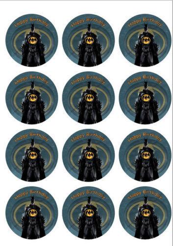 Batman Personalized Edible Print Premium Cake Topper Frosting Sheets 5 Sizes