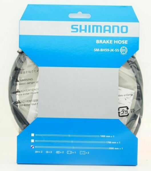 Shimano BH59-JK-SS 1700mm Disc Brake Hose Kit Black for Alivio M4050 Altus M39