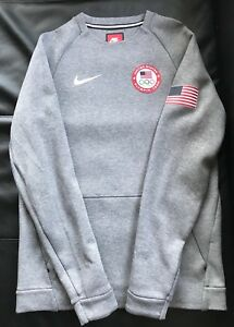 11c79b153 Details about Nike Men's Tech Fleece Crew Sweatshirt Team USA 2016 Olympics  807601-063 Small
