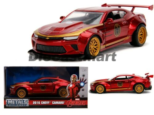 Jada 1 3 2 Hollywood Rides Iron Man Tema 2016 Chevrolet Camaro 30298 Avengers