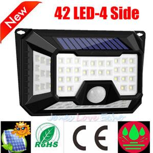 42-DEL-Solar-Power-Motion-Sensor-Jardin-Securite-Lampe-etanche-mur-de-lumiere-cour