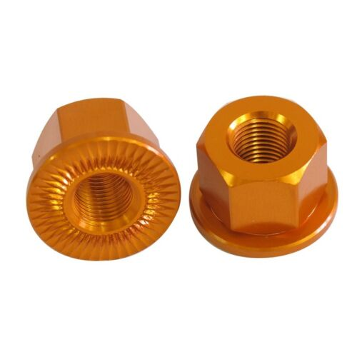 SC Bmx Bike 14mm Alloy Anodised Wheel Nuts 7 Colours SVNU001 by Wheel Nuts Orang