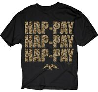 Duck Dynasty Hap-pay Camo Adult Licensed T-shirt - Jack Willie Phil Si Jase Tee