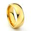 Tungsten-Carbide-Classic-18k-Gold-Polish-Wedding-Band-Men-Women-Engagement-Ring thumbnail 2