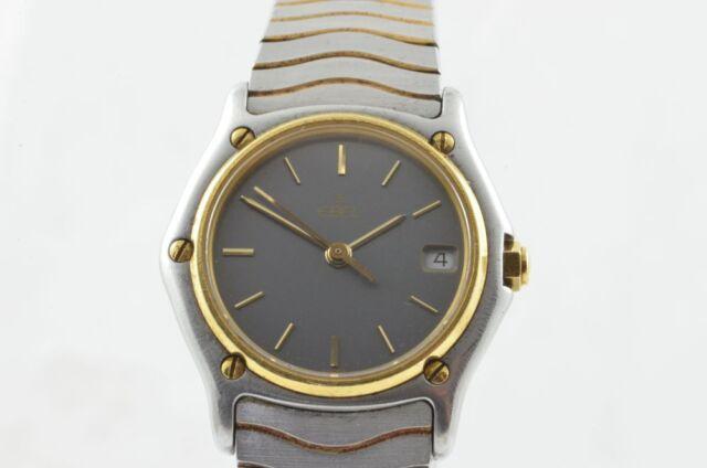 Ebel Sport Classique Quartz Women's Watch Steel/Gold 28MM 183908 Nice Condition