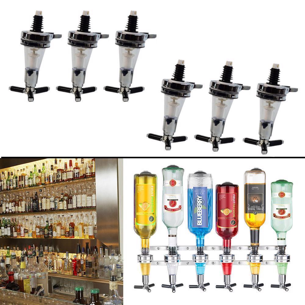 Liquor Dispenser Wall Mounted 6 Station Bottles Bar Butler Drinking Pourer Tools
