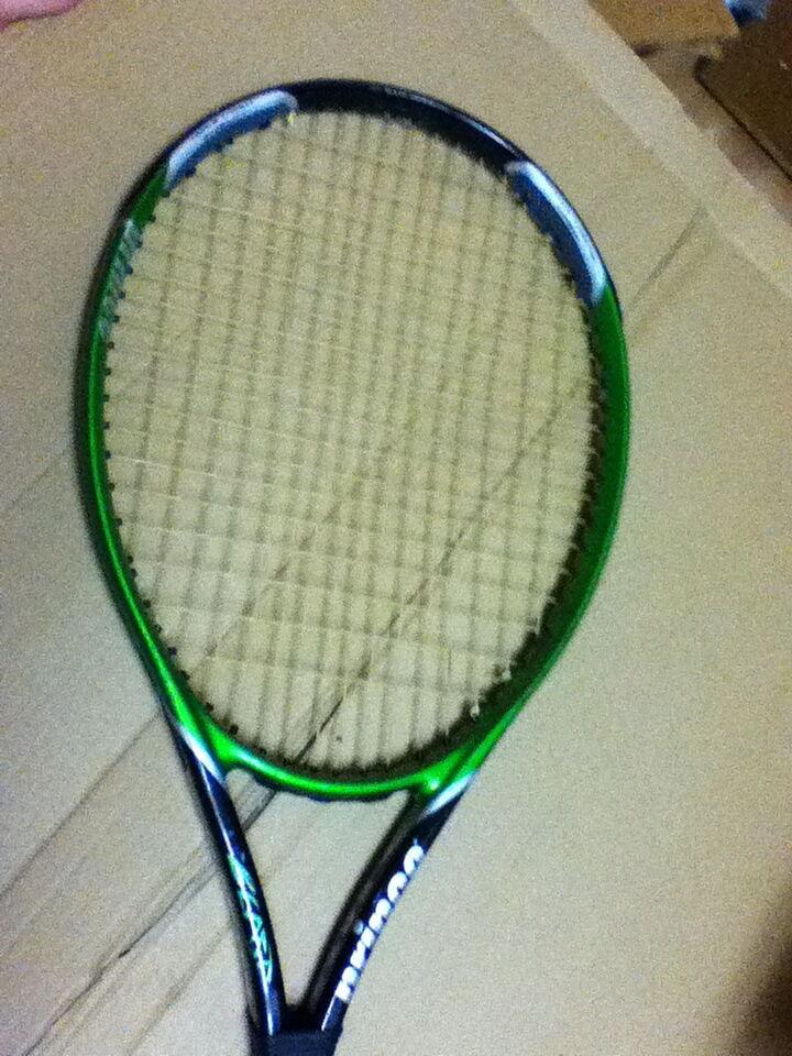 Prince Triple Threat TURBO BEAST OVERSIZE STRUNG Tennis Racquet 4-1 4  FREE SHIP