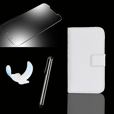 Brieftasche Handy Tasche für Sony Xperia Panzer Glas Folie Flip Case Etui Portia