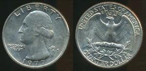 United-States-1977-D-Quarter-1-4-Dollar-Washington-Uncirculated