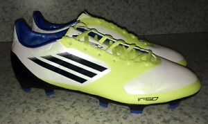 more photos dbf0a c7ede Image is loading ADIDAS-F30-AdiZero-Synthetic-TRX-FG-White-Soccer-