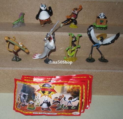 Kung Fu Panda 2 kompletter Satz inkl aller 8 BPZ aus Kinder Joy Deutschland