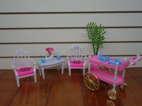 Fridge /& Kitchen Gloria,Barbie Size Doll  Furniture// 4 set of  Dining,Tea