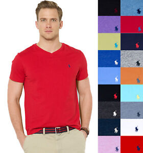Details about Polo Ralph Lauren V-NECK T Shirt Mens Tee New With Tag - S M  L XL XXL 1ec02060f894