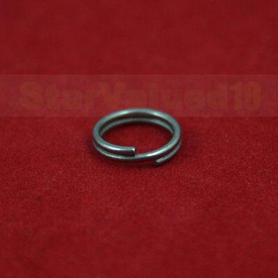 """Polish Titanium TA2 Split Key Ring Keychain Key Chain 1-1//4/"""" 32mm 1.25 Inches L"""