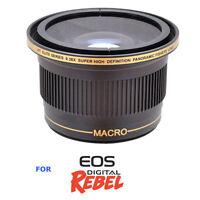 58mm Fisheye Lens+ Macro For Canon Eos Digital Rebel Xs Xt T3 T3i T5 For 18-55
