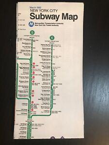 1992 Nyc Subway Map.Details About Vtg March 1992 Nyc New York City Subway Map Pocket Mta Guide Nycta
