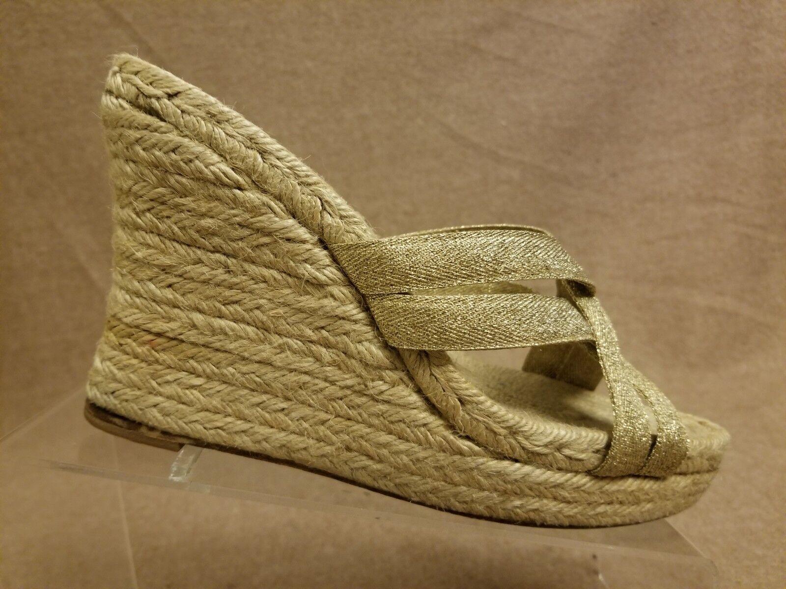 vendite online Stubbs & Wootton donna Espadrille Wedges Glitter oro Strap Strap Strap Slides Sandals Sz 39  Offriamo vari marchi famosi