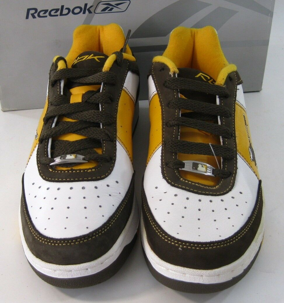 Reebok -MLB Clubhouse Rtpad White/Brown/Yellow Size 7.5
