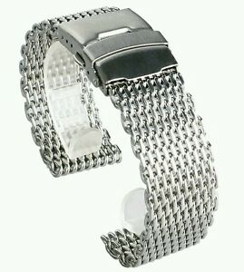 Mesh-20mm-Milanesa-Shark-steel-inoxydable-band-brazalete-Armis-Bracelet-strap-Tl