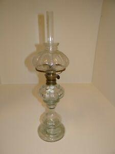 Wunderschöne antike Petroleumlampe Glas 55 cm leicht beschädigt P-465