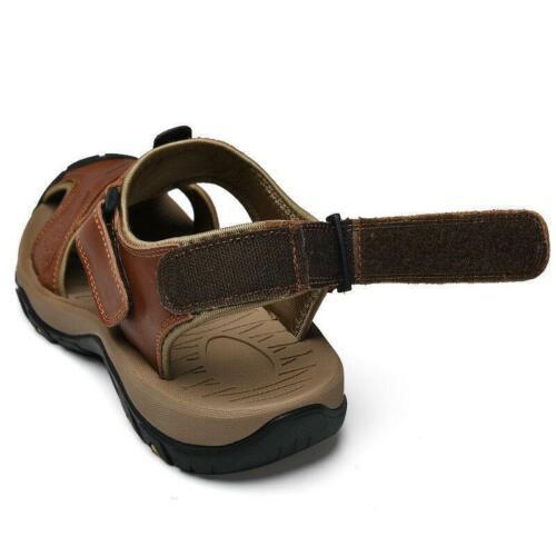 Homme Outdoor Randonnée en Cuir Véritable Sandales Été Camping Fisherman Shoes US