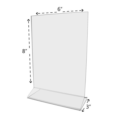 """6""""W x 8""""H Clear Acrylic Double-sided Table Sign Holder Table Tent"""