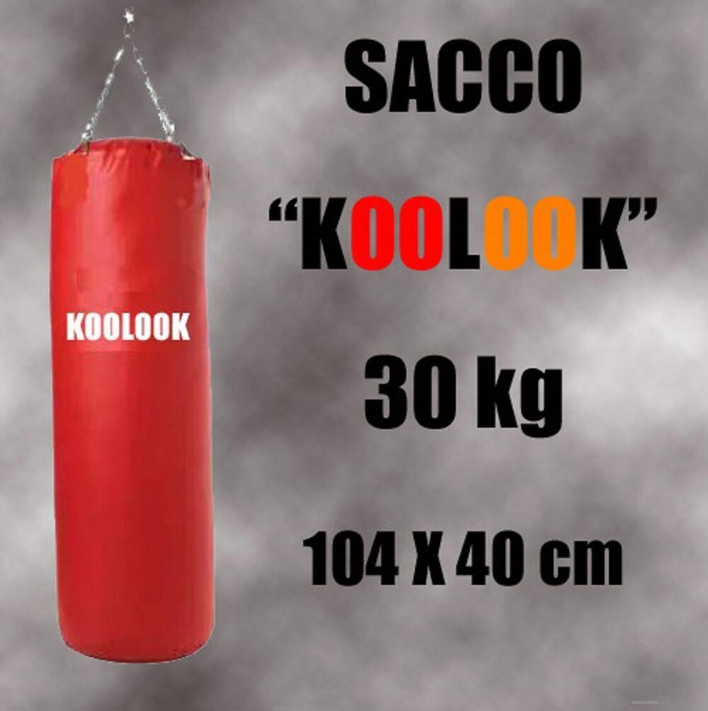 COLORE ROSSO SACCO BOXE PIENO / SACCO PUGILATO 104 X 40 BY KOOLOOK SPED.GRATUITA