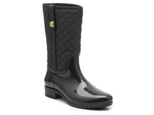 4835b812fa4f21 NEW - TOMMY HILFIGER Women s  FREDDO  Black RAIN BOOTS - 10