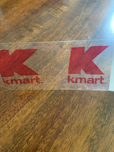 """Kmart Stores Clear Red Logo Security Packing Tape 2/"""" 110yds Roll"""