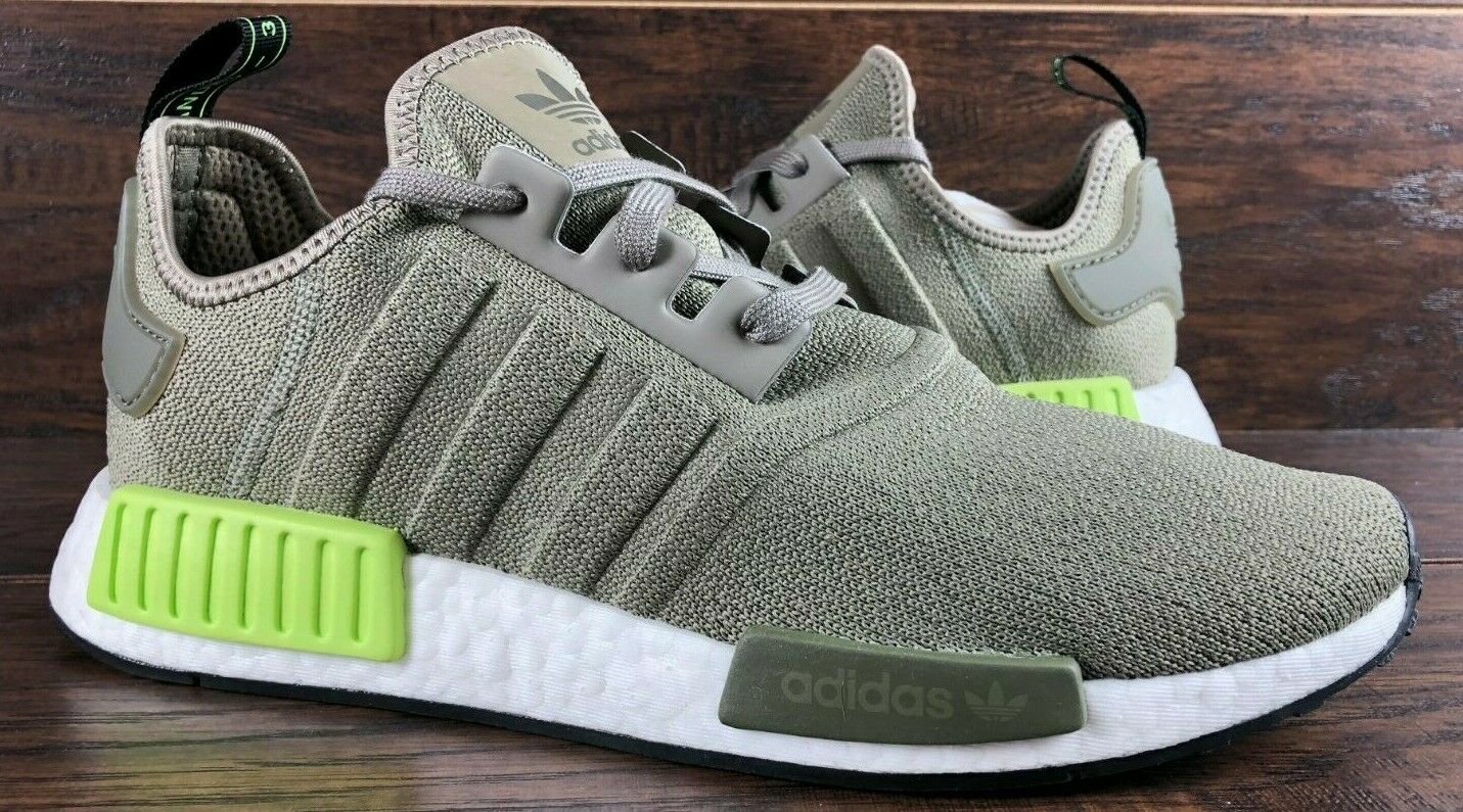 ADIDAS ORIGINALS NMD R1 BOOST SHOES BD7750 STEEL SOLAR YELLOW NEW MENS NMD_R1