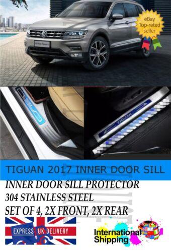 VW TIGUAN MKII 2017-2018 INNER DOOR SILL SCUFF PLATE GUARD TRIMS PROTECTOR 4PCS