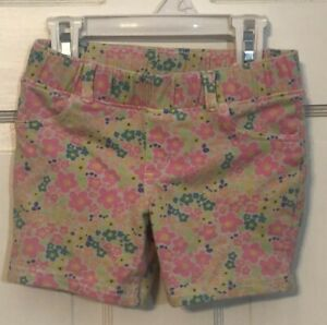 Jumping-Beans-Girls-Size-5-Cotton-Shorts-Neon-Flowers