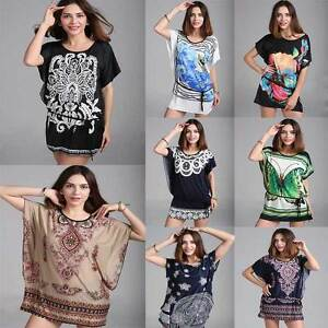 Women-Kaftan-Tunic-T-shirt-Blouse-Top-Shirt-Mini-Dress-Plus-Size-Bohemia-8-18-14