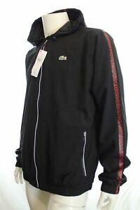 976a525eb676 BNWT LACOSTE BH2335 MEN TRACKSUIT TOP HOODED JACKET IN BLACK SIZE 54 ...