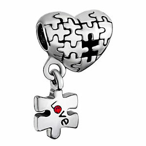 Image Is Loading Love Autism Awareness Puzzle Charms Beads Bracelets With
