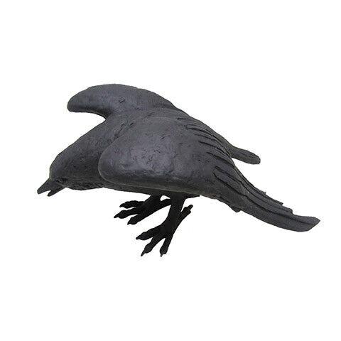 Darice Halloween Large Crow 10.13 x 9 inches w Resin Black