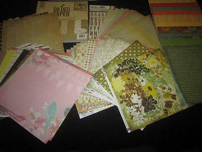 HUGE LOT 175 SHEETS 12X12 SCRAPBOOK PAPER CARD STOCK, PINK PAISLEY, DCVW +++