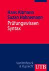 Prüfungswissen Syntax von Hans Altmann und Suzan Hahnemann (2010, Taschenbuch)