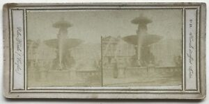 Parigi Place Da La Concorde Foto N° PL40L7 Stereo Vintage Albumina c1858