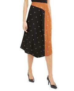 Alfani Skirt Asymmetrical Twin-Print Size 16 NWT