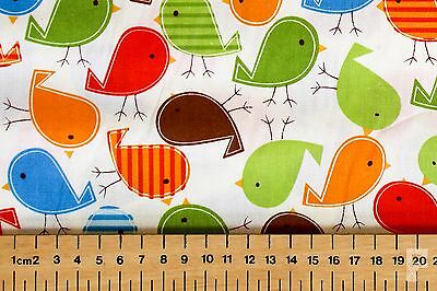 100% COTTON NOVELTY PRINTS - BIRDS / ROBIN RED BREAST - WIDE WIDTH