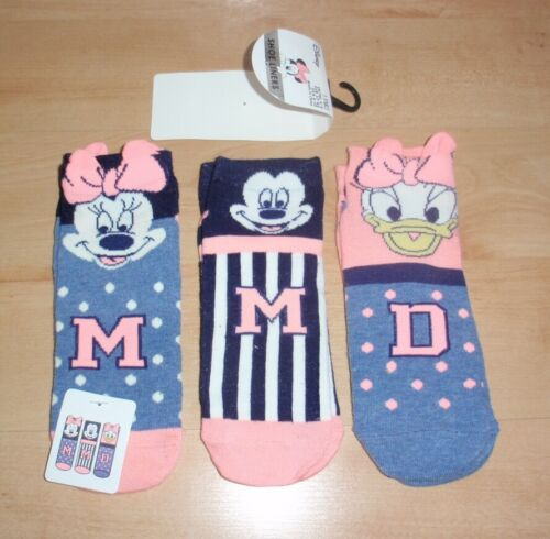 BNWT Primark womens DISNEY MICKEY MOUSE multipack shoe liners UK 4-8 EUR 37-42