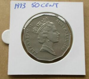 AUSTRALIAN-DECIMAL-1993-50-CENT-COIN-LOW-MINTAGE-KEY-DATE