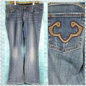 Rerock-for-Express-Blue-Boot-Cut-Mid-Rise-Jean-Back-Pocket-Design-Size-10
